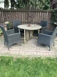 Patio furniture - table and four chairs
