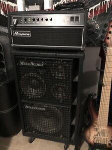Mesa Boogie 1517b & Ampeg SVT CL bass guitar amp head & Cab