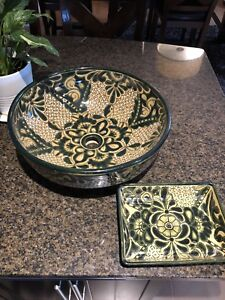 Mexican Vessel sink and soap dish