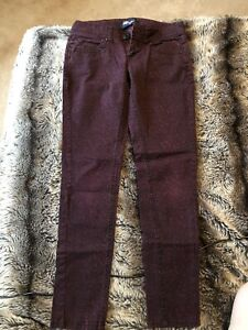 Red Cheetah Low-Rise Jeans (Size 3)