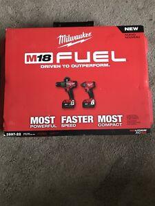 Brand new Milwaukee m18 brushless hammer drill and impact combo