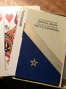 Rare Playing Cards S.S. Canadiana Crystal Beach
