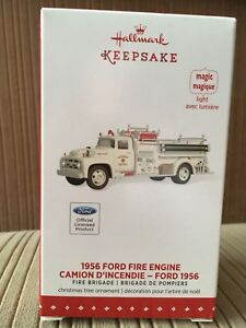 1956 Ford Fire Engine Christmas Ornament