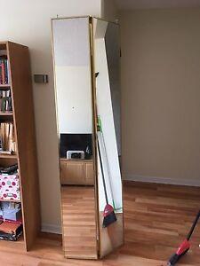 Mirror/sliding closet door