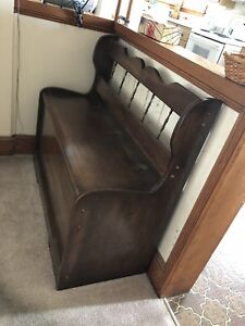 Solid wood Deacon's Bench