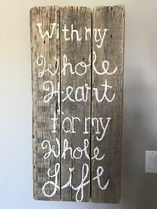 Handcrafted Farmhouse Style Sign
