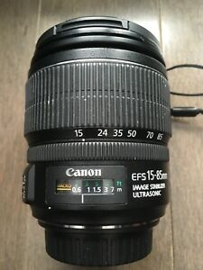 EFS 15-85mm Ultrasonic Canon camera lens
