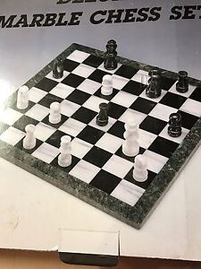 Marble chess set Rankin Park Newcastle Area Preview