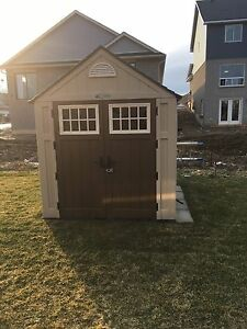 Suncast Blow Molded Storage Shed - (7 Ft. x 7 Ft.)