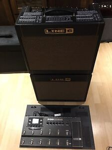 Line6 DT25 with extension cabinet and POD HD500