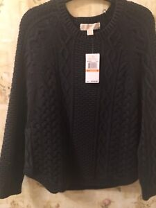 Michael Kors Cable Knit Poncho Sweater NWT
