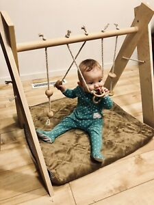 Wooden Hand Made Baby Play Gym