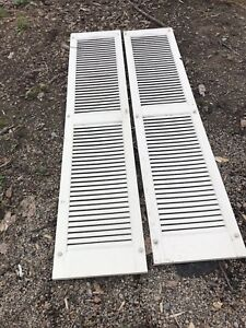 BEAUTIFUL DECORATIVE OUTDOOR SHUTTERS IN EXCELLENT CONDITION