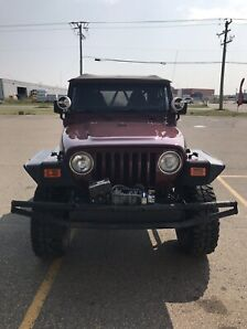 "Custom 6"" lifted Jeep TJ roll cage winch $11500 obo TRADES??"