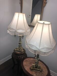 Traditional solid metal lamps