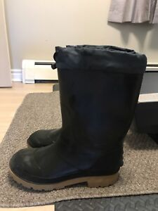 Men's Lined Rubber Boots Size 10