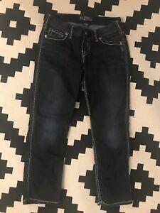 Size 29Silver Jeans- Frances Capri