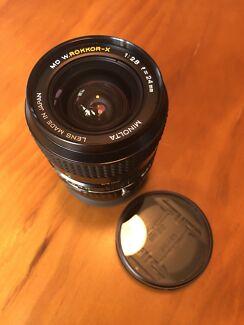Minolta MD W Rokkor-X 24mm f 2.8