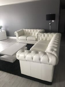Leather Sofa And Loveseat,Area Rug,Floor Lamp,Coffee Table