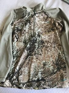 Cabelas outfither camo layering sweater