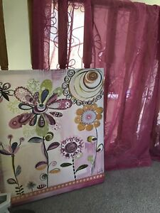 Girls curtains and picture