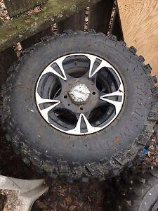 Arctic cat rims and tires
