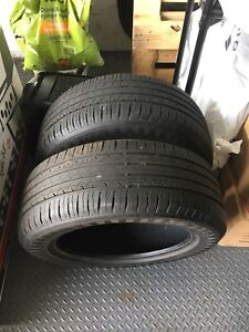 Two almost new 215/55/17 tires