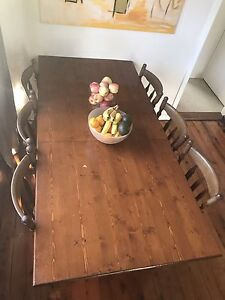 Dining table with 6 dining chairs Yowie Bay Sutherland Area Preview