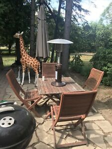 Teak Patio Set (Table with 4 chairs)