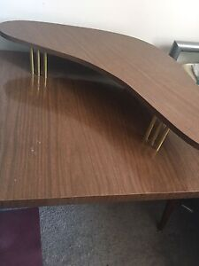 Double layer wooden table for sale