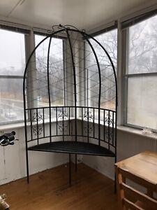 Metal arbour bench indoor / outdoor