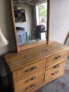 Antique Dresser and Mirror for sale