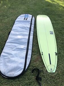 "8'4"" Fibreglass Malibu Surfboard"