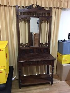Antique Mirrored Hall Stand Hemmant Brisbane South East Preview