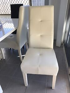 6 x white & black dining chairs Birkdale Redland Area Preview