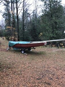 1978 albacore 15,9ft sailboat and trailer