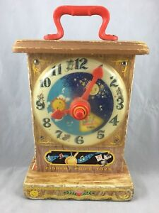 Vintage Fisher Price Toy 1964 997 Music Box Tick-Tock Clock