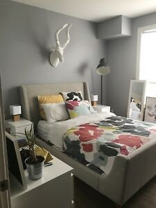 Bedroom for sublet in a two bedroom south end apartment