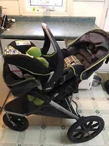 Evenflow Victory Jogging Stroller and Embrace35 car seat