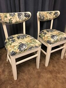 Gorgeous Set of 4 Newly Upholstered Dining Chairs