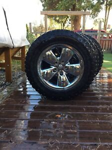 "34"" Winter studded Goodyear Duratrac Tires with Rims"