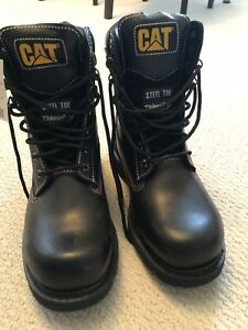 CATERPILLAR steel toe boots size 9.5