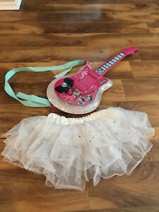 Barbie guitar and tutu skirt
