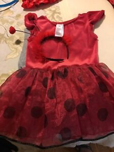 Halloween costume and head band size 2-3