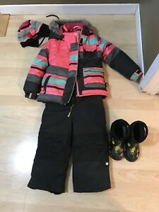 Nano Snowsuit, hat and Winter Bogs
