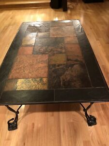 Slate coffee table, very unique