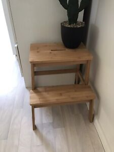 Bamboo stool, step stool Oak Flats Shellharbour Area Preview