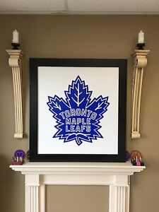 Toronto Maple Leafs framed 3D logo