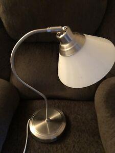 Brushed metal desk lamp