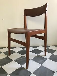 Mid century Danish teak chair by Erik Buch